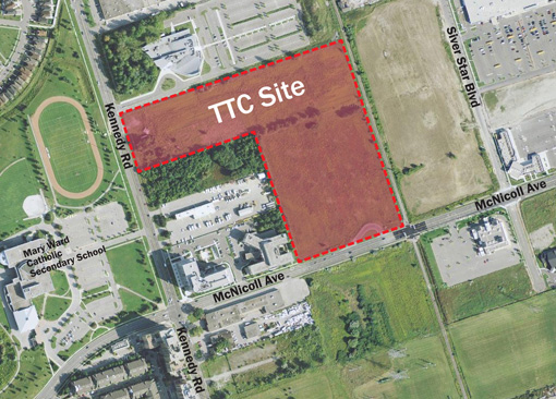 Location of proposed TTC bus garage